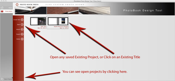 Open an existing project.