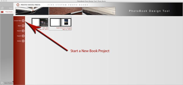Start a new book project.